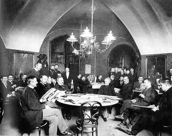 nr 4 w Cafe Griensteidl we Wiedniu rok 1897 źródło