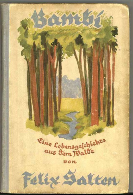 Okładka wydania historii o Bambim z 1923 roku. Źródło