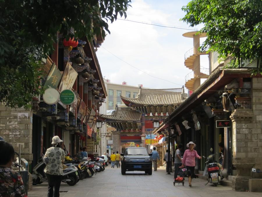 Uliczka w Jianshui. Autorka zdjęcia jest  Natalia