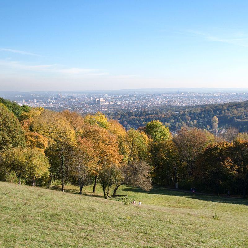 Poowa padziernika i takie cudne soneczne dni! Panorama Wiednia jakhellip